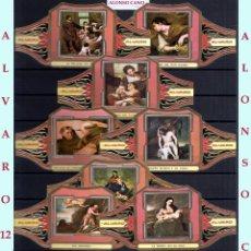 Anéis de charuto de coleção: SERIE COMPLETA ALVARO DE 12 CUADROS DEL PINTOR ESPAÑOL ALONSO CANO. 12 VITOLINAS. PERFECTAS.. Lote 206365571