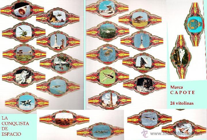 LA CONQUISTA DEL ESPACIO - 24 VITOLINAS DE LA MARCA PEDRO CAPOTE ESPAÑA. (Coleccionismo - Objetos para Fumar - Vitolas)
