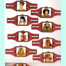 Vitolas de colección: DINASTIA EGIPCIA COLOR ROJO - SERIE DE 12 VITOLINAS DE LA MARCA DON DIAZ - BELGICA.. Lote 45301956