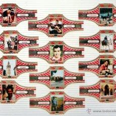 Vitolas de colección: SERIE DE 12 VITOLAS TEMATICA ESPAÑA DE LA MARCA VICTOR HUGO. HOLANDA.. Lote 45302221