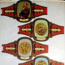 Vitolas de colección: TABACOS ALVARO SERIE DE ALFRED NOBEL CON LAS MEDALLAS DE LOS PREMIOS NOBEL.SON 5 VITOLINAS. Lote 45690747