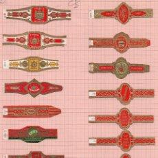 Vitolas de colección: 1351 PRECIOSO LOTE DE DIEZ Y SEIS VITOLAS CLÁSICAS DE LA CASA VARIAS . Lote 45908577