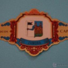 Vitolas de colección: VITOLA DE:ESCUDOS PROVINCIAS DE ESPAÑA,ZAMORA,Nº49,DE CAPOTE. Lote 55143831