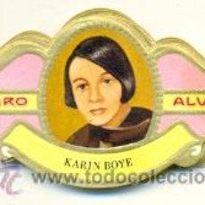 Vitolas de colección: 14-1623. VITOLAS ALVARO. SERIE MUJERES FAMOSAS EN LAS LETRAS (POESÍA). Lote 46636343