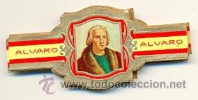 14-1625. VITOLAS ALVARO. SERIE DESCUBRIMIENTO DE AMÉRICA (Coleccionismo - Objetos para Fumar - Vitolas)
