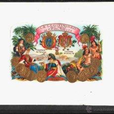 Vitolas de colección: ALBUM CON 18 MARQUILLAS CUBANAS 65 VITOLAS, EXCELENTE ESTADO DE CONSERVACION. . Lote 47627903
