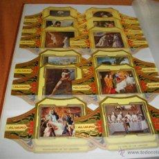 Vitolas de colección: PRECIOSA SERIE COMPLETA DE ALVARO TAMAÑO GRANDE COLECCION CUADROS DE PINTORES ESPAÑOLES ZURBARAN . Lote 47996408
