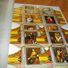 Vitolas de colección: PRECIOSA SERIE COMPLETA DE ALVARO TAMAÑO GRANDE COLECCION CUADROS DE PINTORES ESPAÑOLES MURILLO. Lote 47996657