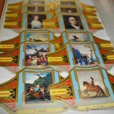 Vitolas de colección: PRECIOSA SERIE COMPLETA DE ALVARO TAMAÑO GRANDE COLECCION CUADROS DE PINTORES ESPAÑOLES GOYA. Lote 47996874