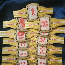 Vitolas de colección: BARAJA DE NAIPES EN VITOLAS - MURILLO - ANTIGUA . JOKER - JOKERS 14 CARTAS AMARILLAS. Lote 50262750