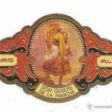 Vitolas de colección: ** V10 - VITOLA - TABACOS ALVARO - SERIE DON QUIJOTE DE LA MANCHA . Lote 52743325