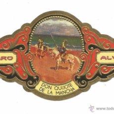 Vitolas de colección: ** V12 - VITOLA - TABACOS ALVARO - SERIE DON QUIJOTE DE LA MANCHA . Lote 52743457