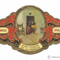 Vitolas de colección: ** V13 - VITOLA - TABACOS ALVARO - SERIE DON QUIJOTE DE LA MANCHA . Lote 52743477