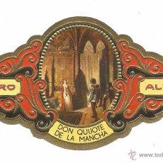 Vitolas de colección: ** V19 - VITOLA - TABACOS ALVARO - SERIE DON QUIJOTE DE LA MANCHA . Lote 52745577