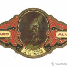 Vitolas de colección: ** V25 - VITOLA - TABACOS ALVARO - SERIE DON QUIJOTE DE LA MANCHA . Lote 52748140
