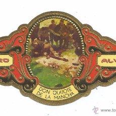 Vitolas de colección: ** V28 - VITOLA - TABACOS ALVARO - SERIE DON QUIJOTE DE LA MANCHA . Lote 52748218