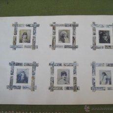 Vitolas de colección: VITOLFILIA Y FILOLUMENIA - HOJA ANTIGUA DE ALBUM CON 48 VITOLAS Y 6 CARATULAS CAJAS CERILLAS-S/ XIX.. Lote 53614574