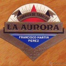 Vitolas de colección: VITOLA LA AURORA FABRICA TABACOS CANARIAS-TENERIFE. Lote 195061218