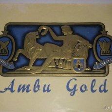 Vitolas de colección: L950 ANTIGUA PUBLICIDAD ORIGINAL AMBU GOLD. TEMA: HOMBRES, ROMANOS PURO PUROS FINOS. Lote 55149131