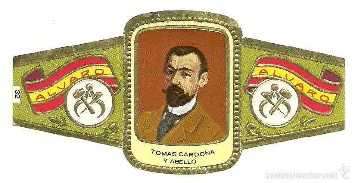 VITOLA ALVARO - SERIE ESCULTORES - TOMAS CARDONA Y ABELLO (Coleccionismo - Objetos para Fumar - Vitolas)