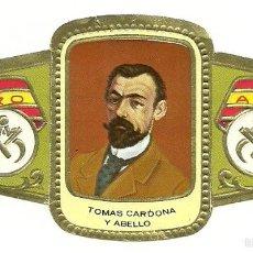 Vitolas de colección: VITOLA ALVARO - SERIE ESCULTORES - TOMAS CARDONA Y ABELLO. Lote 56253521