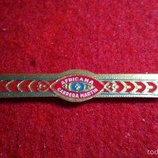 Vitolas de colección: VITOLA ANTIGUA AFRICANA CABRERA MARTIN. Lote 57313450