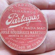 Vitolas de colección: ANTIGUA ETIQUETA TABACOS Y CIGARROS PARTAGÁS - SANTIAGO DE CUBA. Lote 57625509