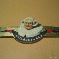 Vitolas de colección: VITOLA ELISABETH BAS, MIDE 2,3X6 CM. Lote 57960227