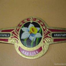 Vitolas de colección: VITOLA ARAUTAPALA, NARCISO, SERIE A, Nº 3, FLORES, MIDE 3,6X6,2 CM. Lote 57960667