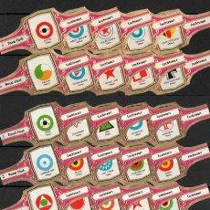 Vitolas de colección: ¡¡ OFERTA !!. ROYAL FLUSH. COLECC. DE VITOLAS COMPLETA ( 55 UNID.). ANAGRAMAS AVIACIÓN. FUCSIA.. Lote 58527539