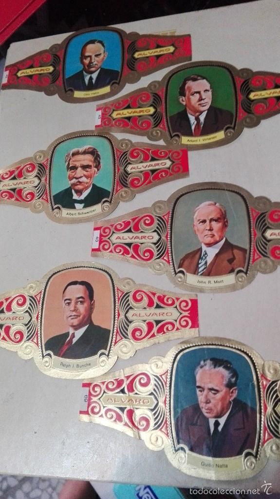 Vitolas de colección: 42 vitolas alvaro hombres celebres - Foto 3 - 58670412