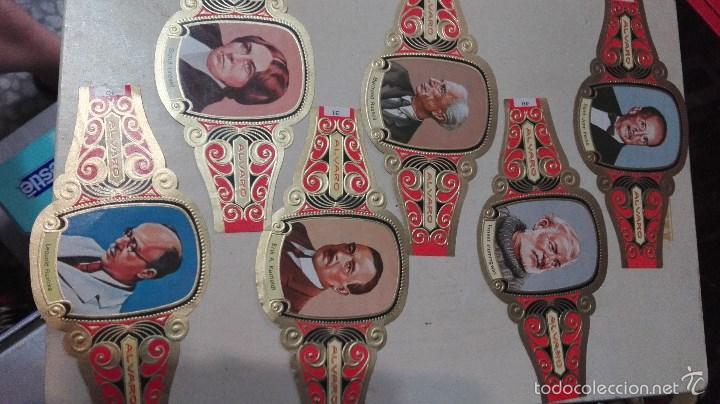 Vitolas de colección: 42 vitolas alvaro hombres celebres - Foto 5 - 58670412