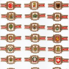Vitolas de colección: VITOLAS. SERIE COMPLETA MARCA TAF - ESCUDOS NACIONALES, 24 VITOLAS. Lote 85615364