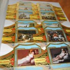 Vitolas de colección: PRECIOSA SERIE COMPLETA DE ALVARO TAMAÑO GRANDE COLECCION CUADROS DE PINTORES ESPAÑOLES GOYA . Lote 60421247