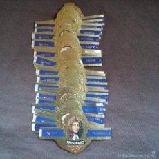 Vitolas de colección: LOTE DE 48 VITOLAS COLECCION PERSONAJES SERIE 1 - H - F TABACOS CAPOTE S.A.. Lote 60726819