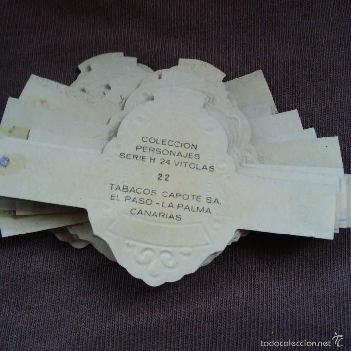 Vitolas de colección: LOTE DE 48 VITOLAS COLECCION PERSONAJES SERIE 1 - H - F TABACOS CAPOTE S.A. - Foto 2 - 60726819