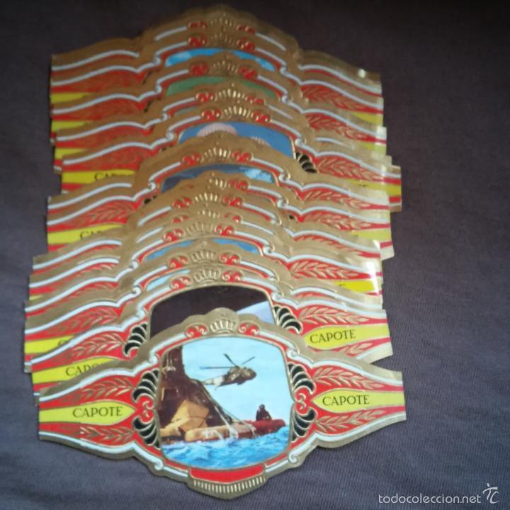 LOTE DE 21 VITOLAS PEDRO CAPOTE COLECCION CONQUISTA DEL ESPACIO SERIE A, VITOLA. (Coleccionismo - Objetos para Fumar - Vitolas)