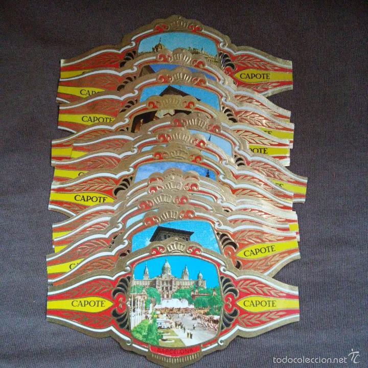 LOTE 12 VITOLAS CAPOTE.COLECCION ARQUITECTURA MONUMENTAL, MARAVILLAS YCASTILLOS DE ESPAÑA, VITOLA (Coleccionismo - Objetos para Fumar - Vitolas)