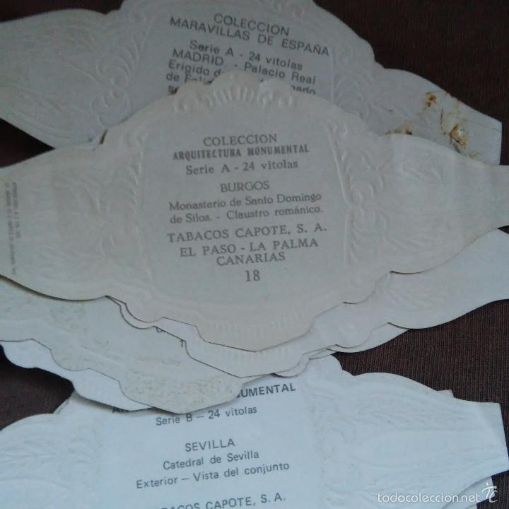 Vitolas de colección: LOTE 12 VITOLAS CAPOTE.COLECCION ARQUITECTURA MONUMENTAL, MARAVILLAS YCASTILLOS DE ESPAÑA, VITOLA - Foto 3 - 60727779
