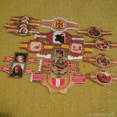 Vitolas de colección: LOTE 29 VITOLAS CON DIVERSAS SERIES, ARAUTAPALA, LITERATOS GUERRA CIVIL ESTADOS UNIDOS ETC, VITOLA.. Lote 60805839