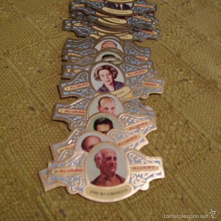 Vitolas de colección: LOTE DE 45 VITOLAS, SERIE PREPIOS PLANETA DE FABRICA DE TABACOS ALVARO, VITOLAS, CIGARRILLOS, PUROS. - Foto 2 - 60806607