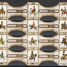Vitolas de colección: VICTOR HUGO. ANTIGUOS UNIFORMES MILITARES.. Lote 149610572