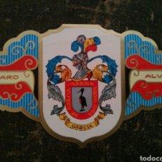 Vitolas de colección: GRAN VITOLA ÁLVARO. HERALDICA SERIE I. GARCÍA. Lote 65899298