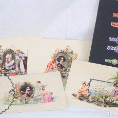 Vitolas de colección: CONJUNTO DE 4 ACUARELAS - ILUSTRACIONES ORIGINALES PARA VITOLAS Y HABILITACIONES DE TABACO. Lote 66686170