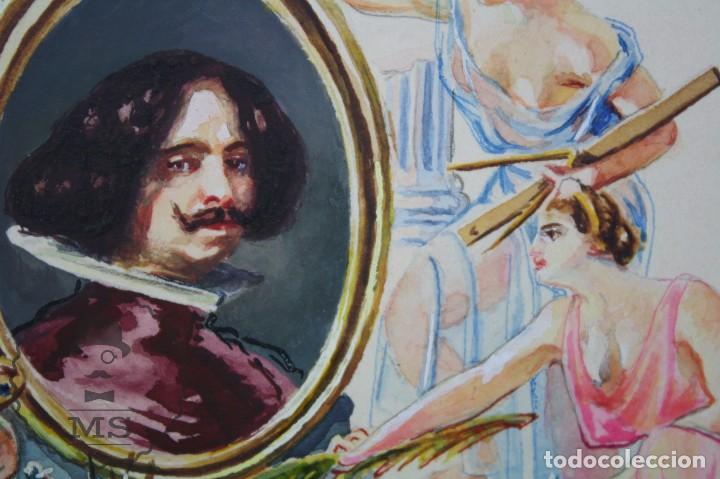 Vitolas de colección: Conjunto de 4 Acuarelas - Ilustraciones Originales para Vitolas y Habilitaciones de Tabaco - Foto 8 - 66686170
