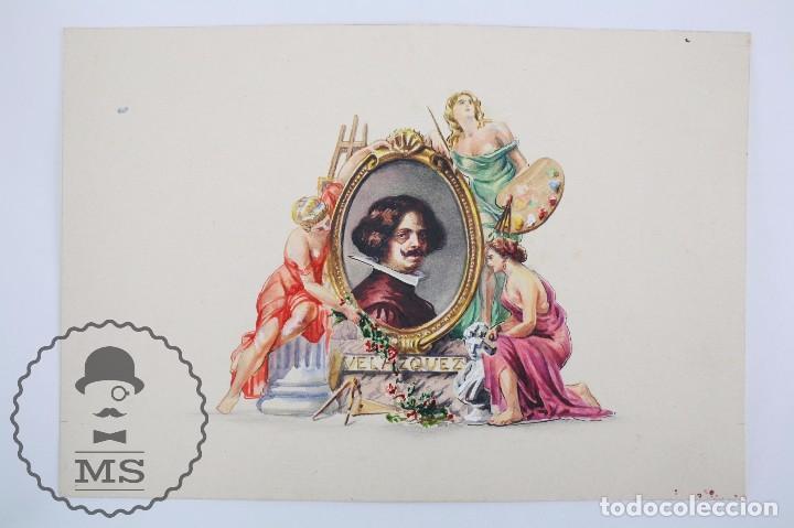 Vitolas de colección: Conjunto de 4 Acuarelas - Ilustraciones Originales para Vitolas y Habilitaciones de Tabaco - Foto 9 - 66686170