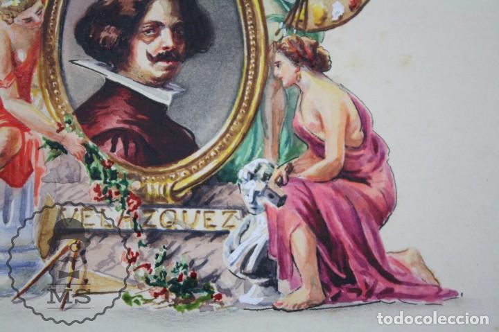 Vitolas de colección: Conjunto de 4 Acuarelas - Ilustraciones Originales para Vitolas y Habilitaciones de Tabaco - Foto 10 - 66686170