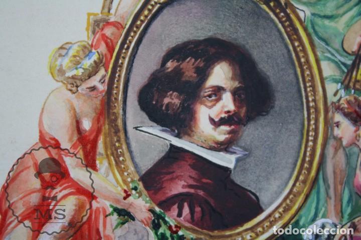 Vitolas de colección: Conjunto de 4 Acuarelas - Ilustraciones Originales para Vitolas y Habilitaciones de Tabaco - Foto 11 - 66686170