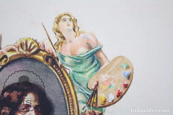 Vitolas de colección: Conjunto de 4 Acuarelas - Ilustraciones Originales para Vitolas y Habilitaciones de Tabaco - Foto 12 - 66686170