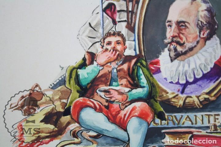 Vitolas de colección: Conjunto de 4 Acuarelas - Ilustraciones Originales para Vitolas y Habilitaciones de Tabaco - Foto 14 - 66686170